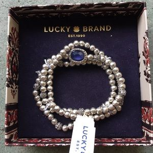 Lucky brand silver beaded bracelet new with tags